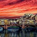Ponte Vecchio Bridge by Anthony Dezenzio