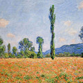 Poppy Field In Giverny  by Claude Monet