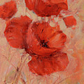 Poppy Flowers Handmade Oil Painting On Canvas by Roman Ben