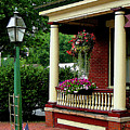 Porch With Hanging Plants by Susan Savad
