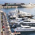 Port Hercule In Monaco by Elena Elisseeva