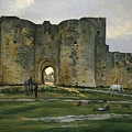 Porte De La Reine At Aigues-mortes by Frederic Bazille