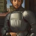 Portrait Of A Man In Armour by PixBreak Art