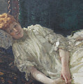 Portrait Of The Pianist Louisa Mercy D'argenteau by Ilya Repin