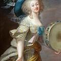 Portrait Une Danseuse Au Tambourin Lisabeth Louise Vige Le Brun by Eloisa Mannion