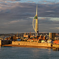 Portsmouth Harbour England  by Shirley Mitchell
