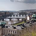 Prague Bridges From Letenske Sady by Aivar Mikko