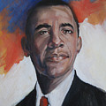 President Barack Obama by Synnove Pettersen