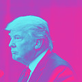 President Donald Trump On Pink by Celestial Images