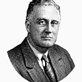 President Franklin Roosevelt Graphic  by War Is Hell Store