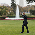 President Obama - White House South Lawn #1 by B Christopher