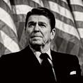 President Ronald Reagan Speaking - 1982 by Mountain Dreams
