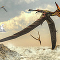 Pteranodon Birds Flying - 3d Render by Elenarts - Elena Duvernay Digital Art