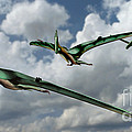 Pterodactyls In Flight by Spencer Sutton
