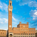 Public Palace With The Torre Del Mangia In Siena, Tuscany by Fabio Migliorucci