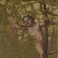 Putto Gathering Grapes by PixBreak Art