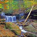 R B Ricketts Falls In Autumn by Rich Walter