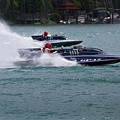 Racing Hydroplanes Boats On The Detroit River For Gold Cup by Bruce Beck