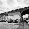 railway viaduct in oxford street former industrial area of digbeth now a conservation area Birmingha by Joe Fox