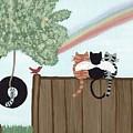 Rainbow Bridge Cats by Deborah Martin