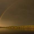 Rainbow Over Sagamore Bridge, Cape Cod by Michelle Himes