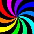 Rainbow Spectral Swirl by Miroslav Nemecek