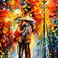 Rainy Kiss by Leonid Afremov