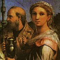 Raphael St Cecilia With Sts Paul John Evangelists Augustine And Mary Magdalene  by PixBreak Art