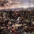 Raphael The Battle At Pons Milvius  by PixBreak Art