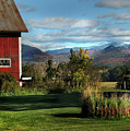 Red Barn In Newbury Vermont by Nancy Griswold