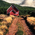 Red Barn Road by Ed A Gage