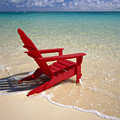 Red Beach Chair by Dana Edmunds - Printscapes