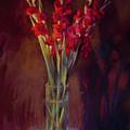 Red Gladiolus by Cathy Locke