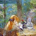 Red-haired Girl Sitting On A Veranda by Berthe Morisot