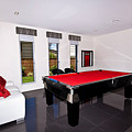 Red Pool Table by Darren Burton