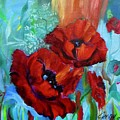 Red Poppies by Jenny Lee