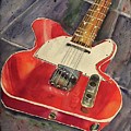 Red Telecaster by Bonny Butler