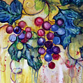 Red Water Color Grapes by Peggy Wilson