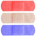 Red White And Blue Bandaids by Blink Images