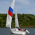 Red White And Blue Sails by Carolyn Jacob