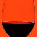 Red Wine Glass by Frank Tschakert