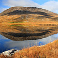 Reflection Of The Connemara Mountains In A Blue Lake Ireland by Pierre Leclerc Photography
