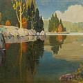 Reflective Lake by John Adams