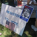 Register To Vote Bobby Kennedy Poster Sylver Short Hand Peart Park Casa Grande Arizona 2004 by David Lee Guss