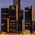 Renaissance Center At Dusk by James Marvin Phelps