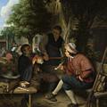 Resting Travellers by Adriaen van Ostade