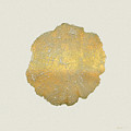 Rings Of A Tree Trunk Cross-section In Gold On Linen  by Serge Averbukh