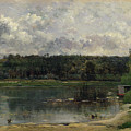 River Scene With Ducks by Charles-Francois Daubigny