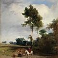 Roadside Halt by Richard Parkes Bonington