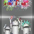 Robo-x9 Celebrates Freedom by Gravityx9  Designs